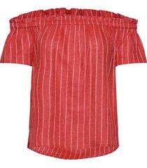 weekend off shoulder top blouses short-sleeved rood wacay