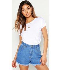 basic cap sleeve t-shirt, white