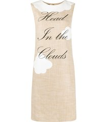 boutique moschino head in the clouds dress - neutrals