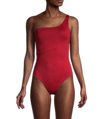 onia women's sienna one-shoulder one-piece swimsuit - cobalt - size xs