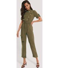 trendyol jumpsuit med kort ärm - green
