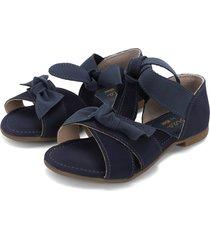 sandalia azul oscuro kidy calcados flat