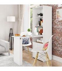 armário multiuso goiás 1 mesa retrátil 2 portas branco - politorno