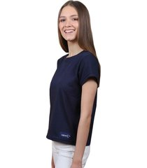 camiseta azul oscura de algodón - domenica