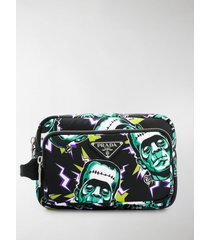 prada printed technical fabric pouch