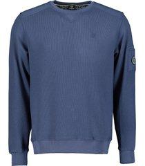 lerros sweater - regular fit - blauw