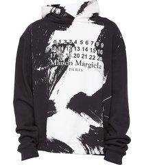 diagonal sweat paint hoodie