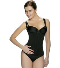 black latex zipper front waist trainer vest ~ to size 3xl