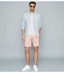 reiss wicket - casual chino shorts in pink, mens, size 38
