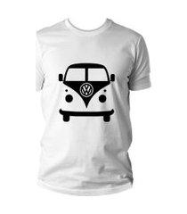 camiseta criativa urbana kombi carro antigo clássico branco