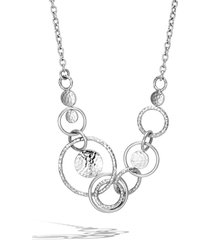women's john hardy dot hammered multi link necklace