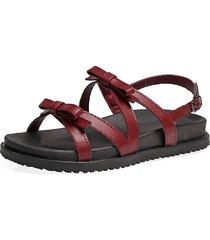 sandali da donna con cerniera incrociati a forma di croce