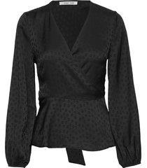 veneta blouse 11459 blouse lange mouwen zwart samsøe samsøe