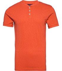 heritage ss grandad t-shirts short-sleeved orange superdry