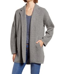women's madewell laguna stitch sweater coat, size xx-large - grey (nordstrom exclusive)