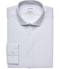 calvin klein infinite non-iron chrome dashed stripe slim fit dress shirt