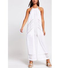 river island womens white halter maxi beach dress
