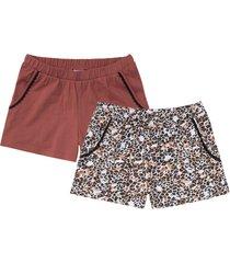 pantaloni pigiama corti (pacco da 2) in cotone biologico (bianco) - bpc bonprix collection