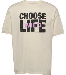 jim t-shirt t-shirts short-sleeved creme wood wood