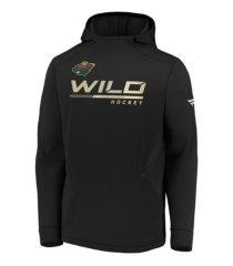 majestic minnesota wild men's locker room rink hoodie