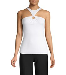 bailey 44 women's halterneck top - white - size xs
