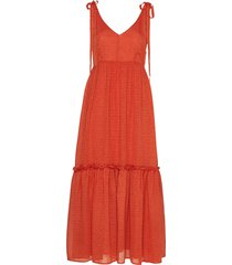 lonagz long dress ao19 jurk knielengte oranje gestuz