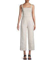 textured cotton-blend jumpsuit