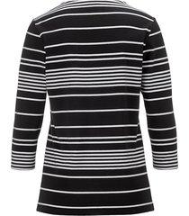 topp dress in svart::vit