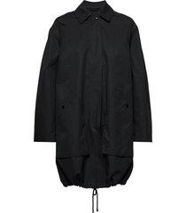 portland coat dunne lange jas zwart filippa k