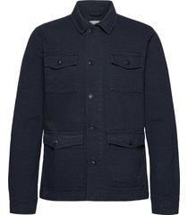 beech jacket - gots/vegan tunn jacka blå knowledge cotton apparel