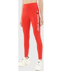 leggings coral-blanco tommy hilfiger sports