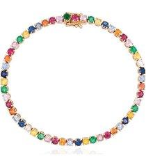 anita ko 18kt rose gold hepburn bracelet - pink