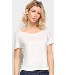 blusa cantão basica viscose feminina - feminino