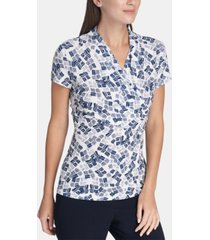 dkny ruched surplice top