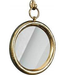 lustro wiszące portrait złote metalowe 30cm