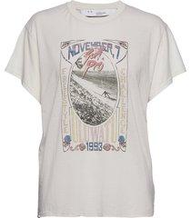 lynx t-shirts & tops short-sleeved creme iro