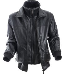 chaqueta stalin negro bosi