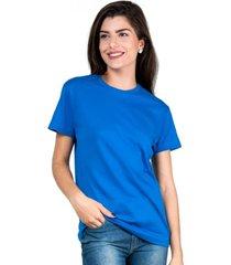 camiseta part.b t-shirt algodã£o azul royal tee - azul - feminino - algodã£o - dafiti