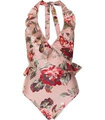 zimmermann cassia floral-print swimsuit