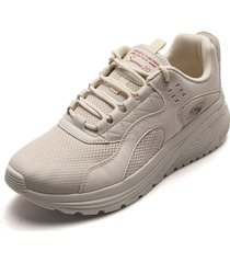 tenis lifestyle beige skechers urban sounds
