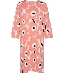 kauneus unikko dress jurk knielengte roze marimekko