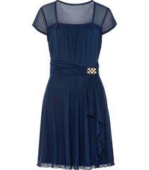 abito in mesh con applicazione (blu) - bodyflirt