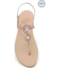 money jewel thong sandals