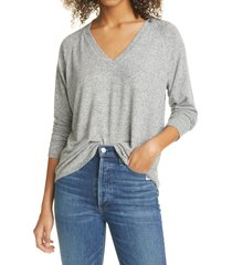 women's rails thalia v-neck pullover, size small - grey