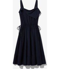 proenza schouler white label cotton shirting apron dress midnight/blue 10