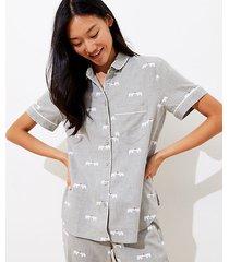 loft petite polar bear pajama set