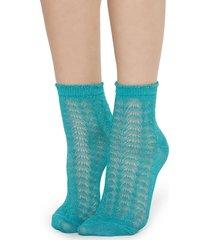 calzedonia - glittery socks, one size, blue, women