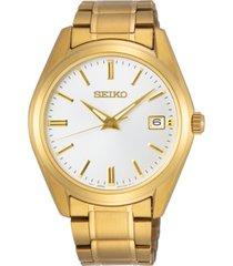 seiko men's essentials gold-tone stainless steel bracelet watch 40.2mm