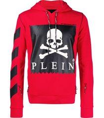 philipp plein statement hoodie - red