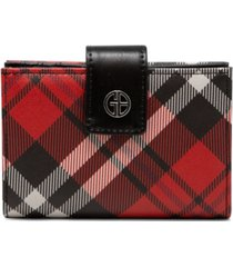 giani bernini framed indexer saffiano plaid wallet, created for macy's